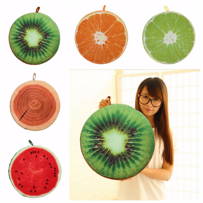 Power Source Garden Supplies Christmas Gift 3d Simulation Fruit Cushion 32*5cm Round Pillow Chair Seat Sofa Meditation Floor Cushions For Home Decoration For Improving Blood Circulation