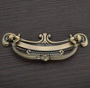 12Pcs/Lot Classical Antique Bronze Furniture Fitting Pull Handles And Knob ( C:C:64MM  L:95MM )