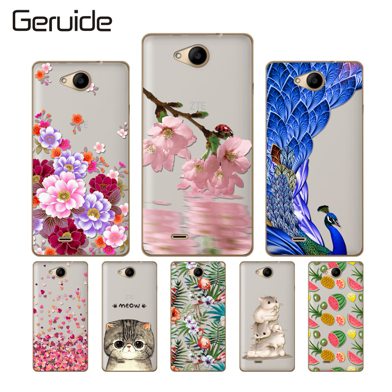 Geruide Soft Silicone Case For ZTE Blade GF3 GF 3 Case Cover, Fashion TPU Back Cover For ZTE T 320 T320 4.5inch Cell Phone Cases