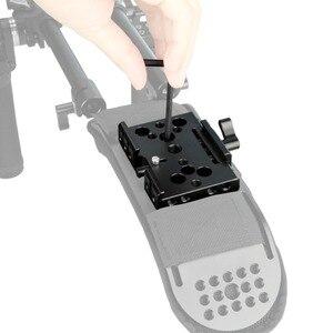 """Image 4 - NICEYRIG سريعة الإصدار بلايت ل كما ستستهدف كاميرا ترايبود اللوح الأساس كما ستستهدف السكك الحديدية DSLR 1/4 """"3/8"""" المسمار هيكل قفصي الشكل للكاميرا تزوير"""