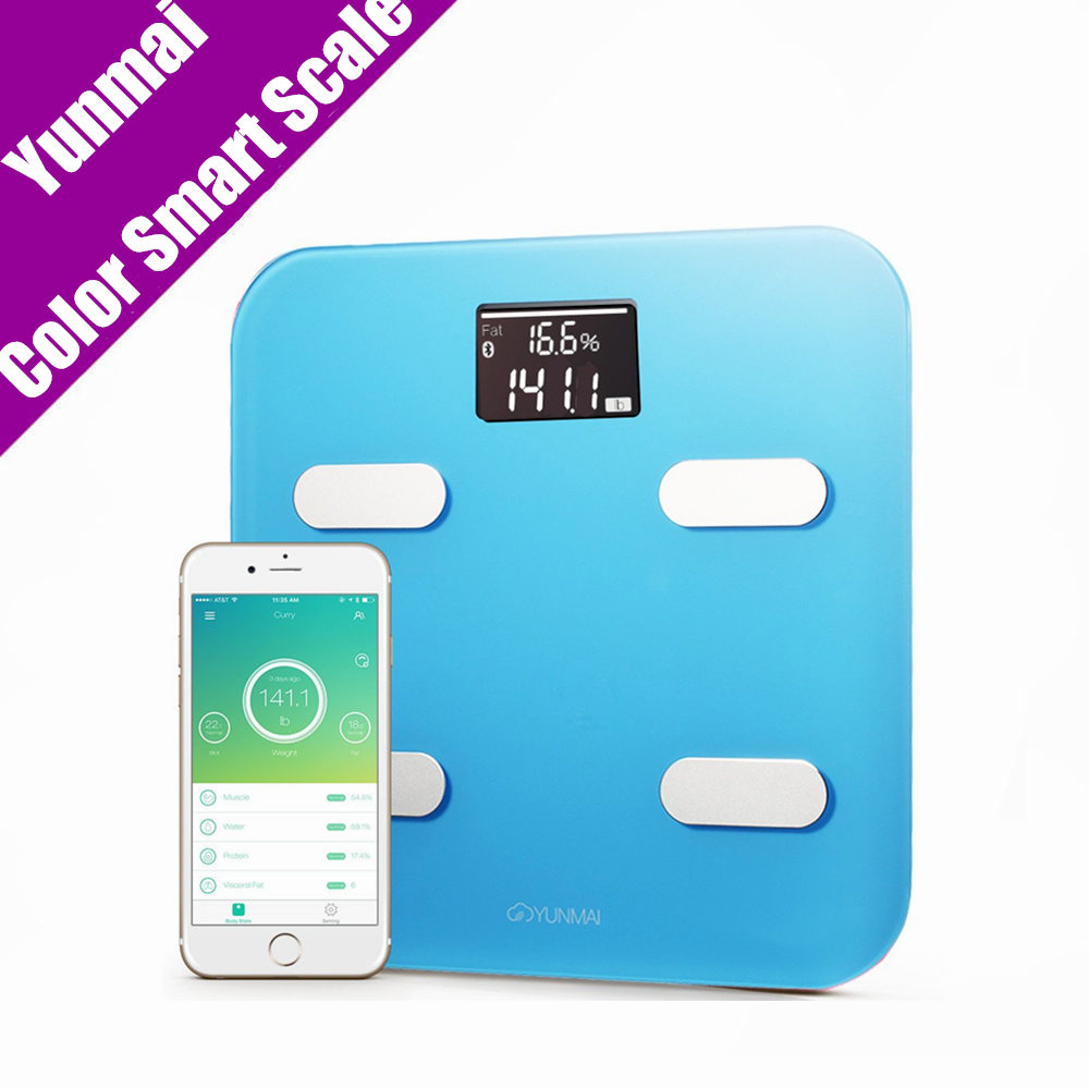Original Yunmai Color Smart Weight Scale Digital Body Fat Health Scale 10 Body Date Support APP Android4.3 IOS7.0 Bluetooth 4.0  цены