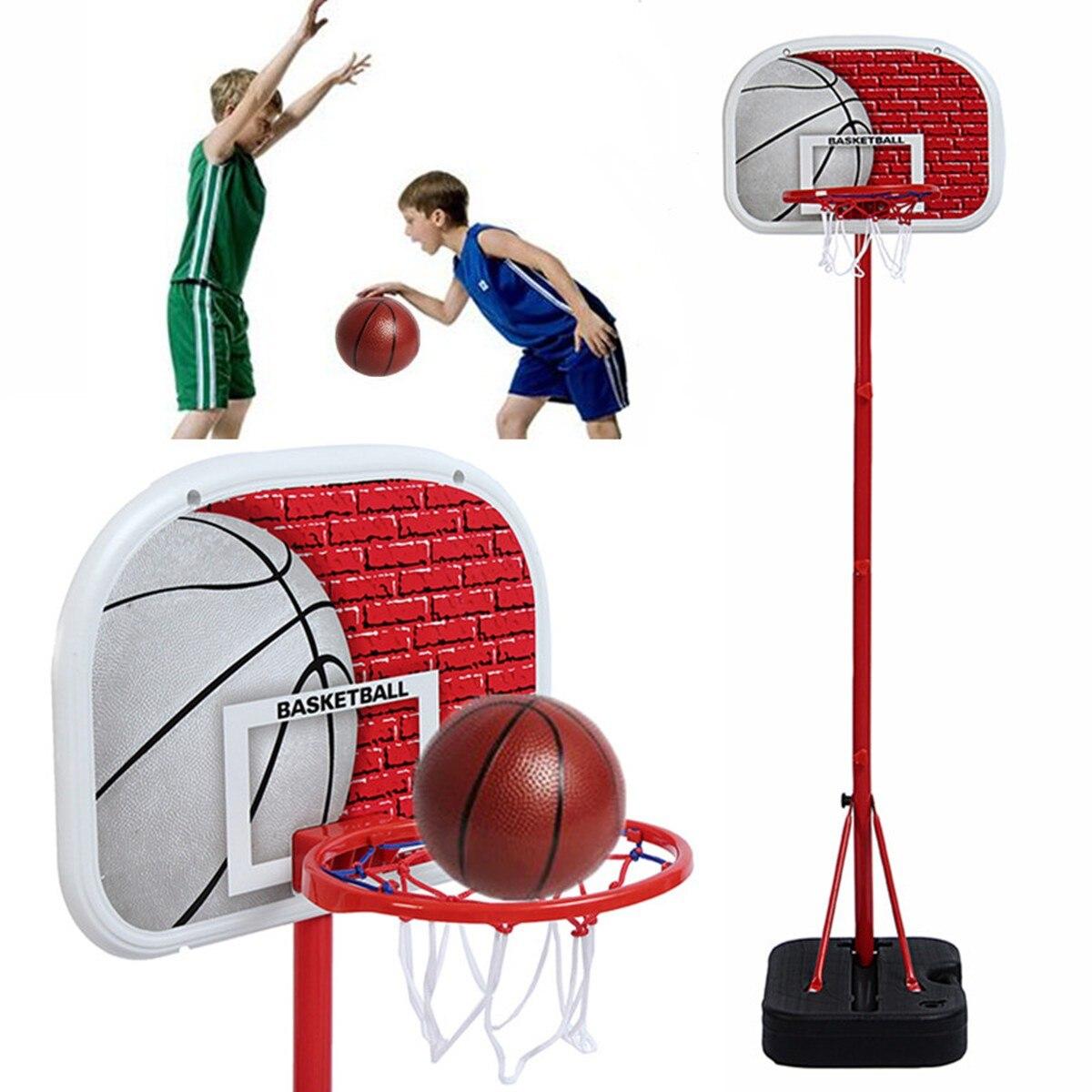 Kids Children Toy Adjustable Basketball Stand Backboard Nets Ball Pump Hoop System Goal Indoor Outdoor Sports Child Gift