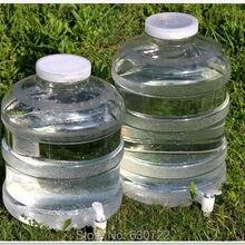 Dani Zhang 10L Пищевой ПК материал ручной пластик минеральная вода ведра открытый питьевой ведро имеет кран 26,5x34 см