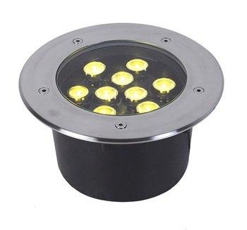 1 Pçs/lote 9 W Led Undergourd Luz Luz Chão, Lâmpadas De Luz Do Estágio Led Subterrânea Lâmpadas 3 Anos De Garantia Do Tempo