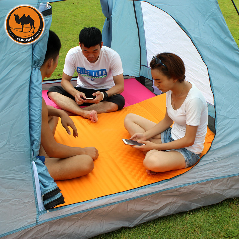 Samcamel Outdoor C&ing Mat Double Air Mattress Inflatable Mattress Airbed Inflatable Bed Air Bed Tent Folding Bed Folding Bed-in C&ing Mat from Sports ... & Samcamel Outdoor Camping Mat Double Air Mattress Inflatable ...