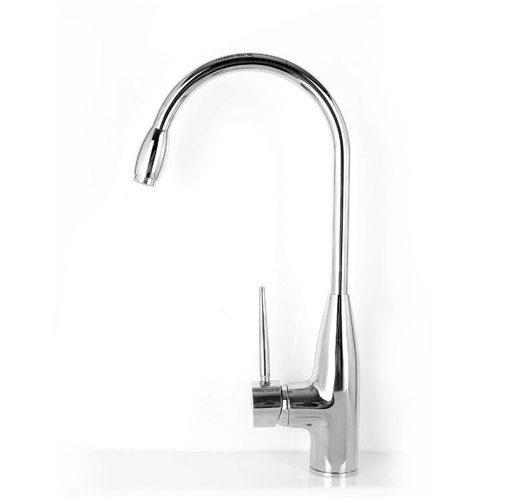 new arrival High quality chrome finish single lever 35mm cartridge brass hot and cold kitchen faucet