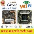 1MP HD 720 P wi-fi ВИДЕОНАБЛЮДЕНИЯ Сети Ip-камера Совета Модуль беспроводной secrutity системной плате с Аудио интерфейс, Onvif