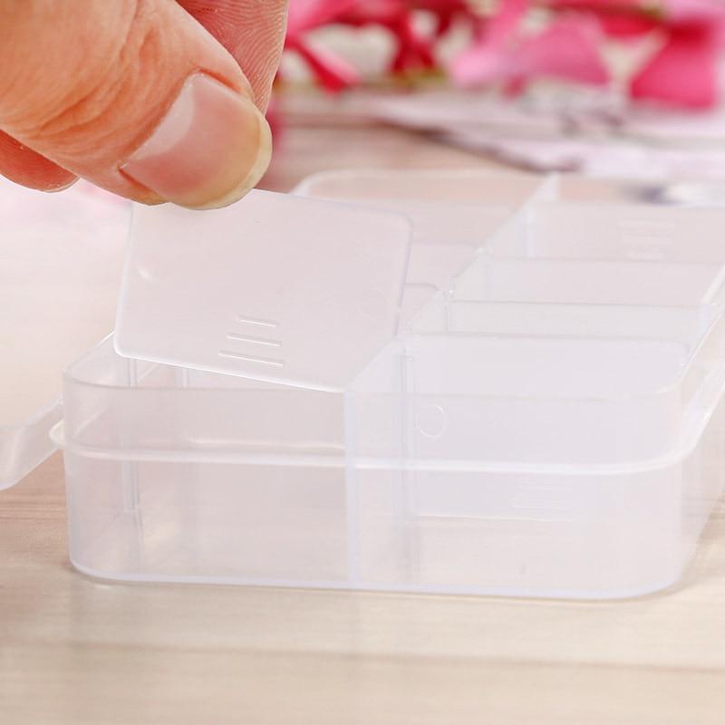 Compartments Fishhook Box Storage Case Box Plastic Spoon Hook Lure Fishing C8H3