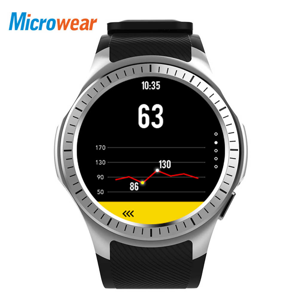 d2006d334 Microwear L1 Smartwatch Phone 1.3'' Sports Smart Watch Android iOS MTK2503 Heart  Rate 2G