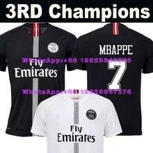 a5fbaa9b59f2d 18 19 PSG Paris Third 3RD champions soccer jersey black white MBAPPE saint  germain 2018 2019