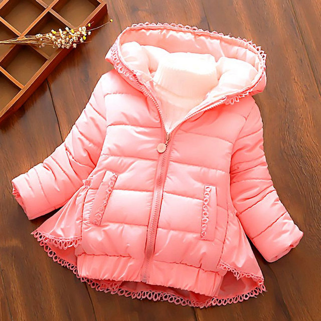 7ef0cc312 winter baby girl padded jacket for children s clothes outerwear ...