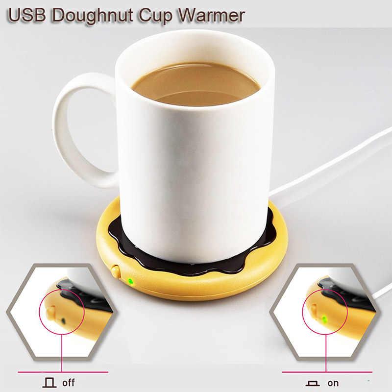 Original USB Doughnut Cup Warmer Heat Beverage Mug Mat Keep