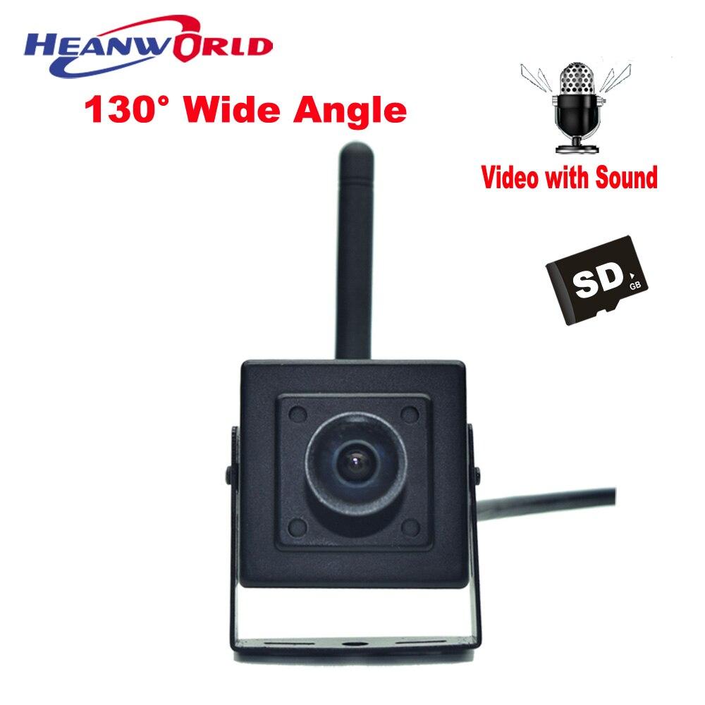 HD IP Camera WiFi Wireless 720P Smart Security Camera Wide Angle 130 degrees Mini Camera WiFi Micro SD Network IP Cam Microphone ip камера 130 3518e