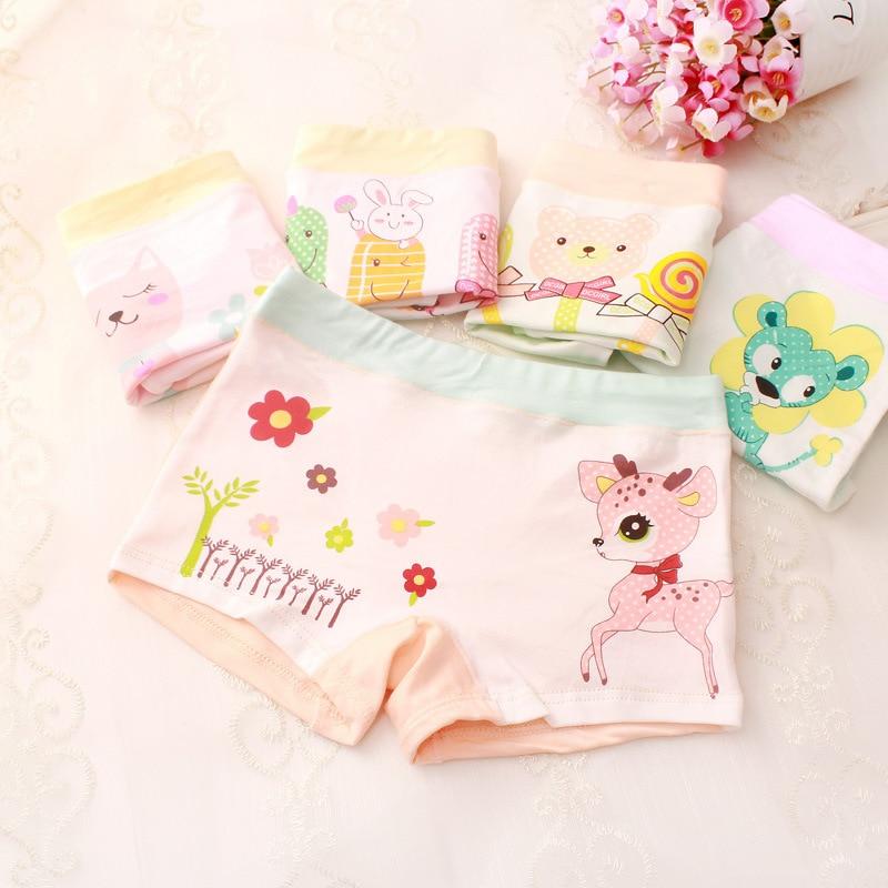 5pcs Girls Underwear Cotton Panties Kids Short Briefs Children Underwear Child Cartoon Shorts Underpants Tobani