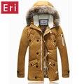 Inverno Pato Quente Para Baixo Dos Homens Casaco Jaquetas Casuais Para Baixo Roupas Com Zíper Engrossar Casacos de Neve Marca Sobretudo Novo Chegada X434