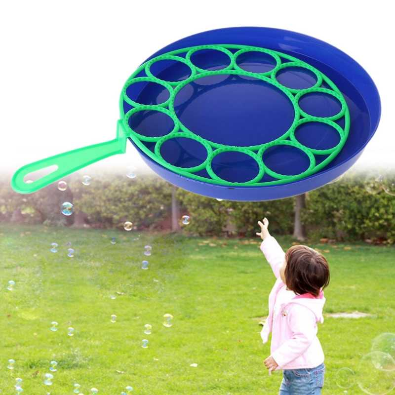 New Bubble Dish Big Bubble Tool Soap Bubble Maker Blower Set Outdoor Toy Gifts