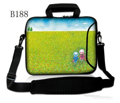 Green Girl Neoprene Laptop Shoulder Bag 11.6 13.3 <font><b>15</b></font>.6 Sleeve Cover Netbook Handbag Case for MacBook Air Pro 11 12 13 <font><b>15</b></font> <font><b>Asus</b></font> HP image