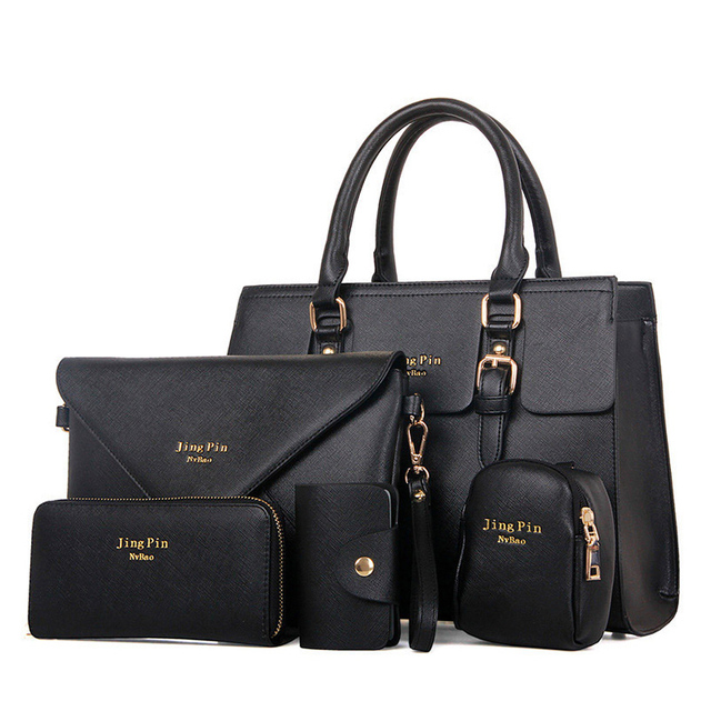 5 Bag/Set  Women Handbags PU Leather Women Messenger Bag Business Hot Girls Bag Solid Volume 2017 Women Bags  MB019