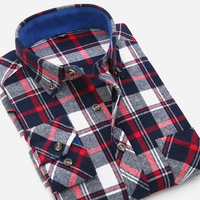 Men S Flannel Plaid Shirts Dress 2017 Male Casual Warm Soft Comfort Long Sleeve Men Shirt