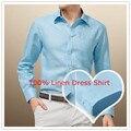 Free Shipping Mens Linen Shirt Long Sleeve Dress Shirts QR-5015