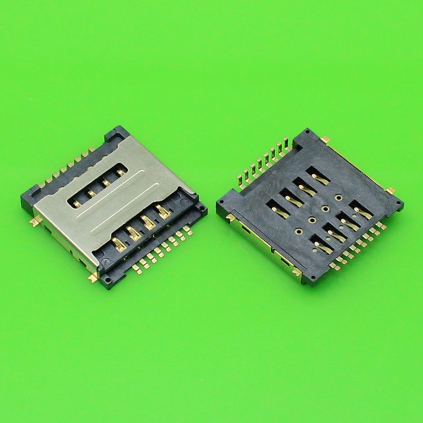 20pcs/lot Dual SIM 8P card reader double SIM Memory card holder adapter/connector for HUWWEI Y320 G7300 T00 Y325