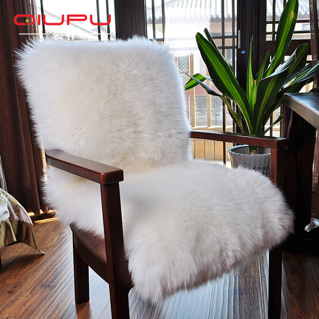 Super Sheepskin Chair Rug Soft Real Sheepskin Rug Bay Window Rug Carpet For  Bedroom Ginuine Sheepskin