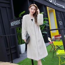 natural slim mink fur coat with V-Neck 110cm long new fashion of 2016 woman natural mink fur coat new