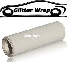 Auto Styling Verpackung Weiß Sand Glitter Wrap Vinyl Aufkleber Film Lkw Motorrad Karosserie Erstreckt Wraps Mit Entlüftungs