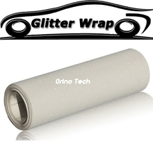 Car Styling Wrapping White Sandy Glitter Car Wrap Vinyl Sticker Film Truck Motorcycle Car Body Covers Wraps With Air Release