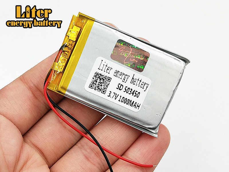 503450 3,7 V 1000mAh литиево-полимерный lipo Перезаряжаемые Батарея литиевые ячейки для Mp4 gps DVD, Pad электрическая игрушечная камера рекордер
