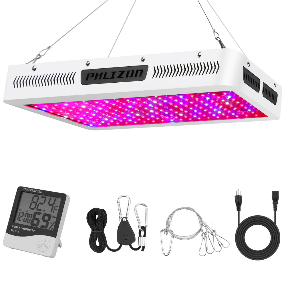 Phlizon Led Grow Light 2000w Plant Growing Lamp Horticulture Leds Culture Indoor Full Spectrum Flower Light Red Blue 220v