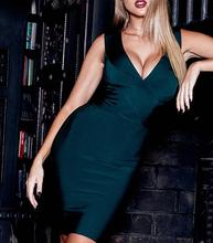 Ocstrade Fashion Bandage Dresses New Years 2019 Sexy Deep v Neck Ever Green Bandage Dress Party Club Plus Size Bandage Dress