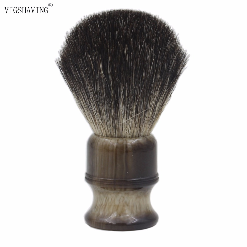 VIGSHAVING  24mm Knot Resin Handle Men Pure Badger Hair Shaving Brush