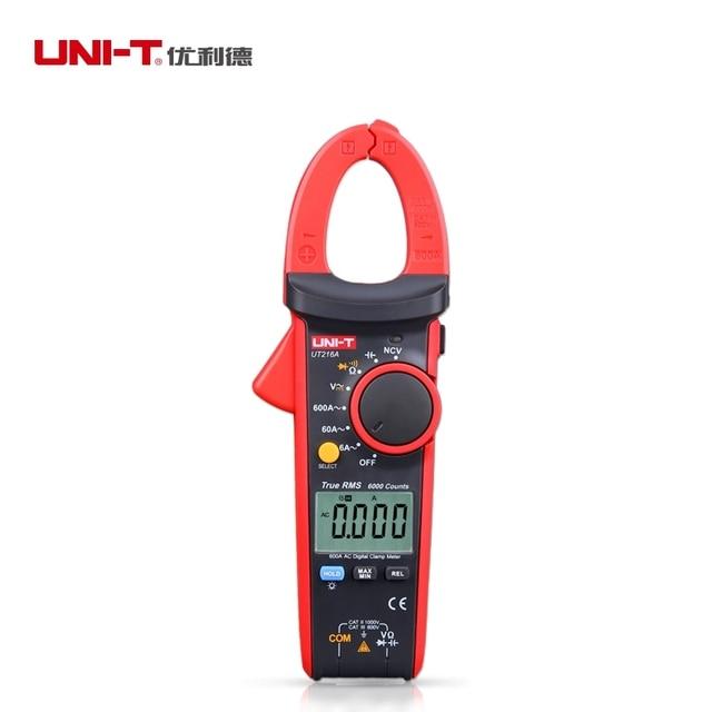 UNI-T UT216A 600A True RMS Auto Range Digital Clamp Multimeter Flashlight NCV Non-contact Voltage Detection Display Count 6000