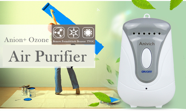 Air Purifier Ozone Generator Toilet Ozonizer Disinfectant Sterilization Anion Air Cleaner Bathroom Remove Formaldehyde Anivich