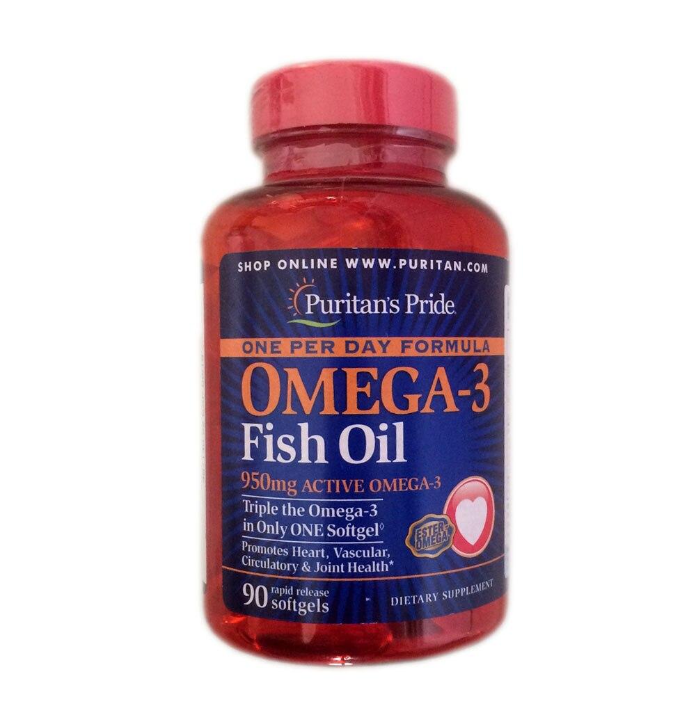 Free shipping omega-3 Fish Oil 950 mg active omega-3 90 pcs fish oil в аптеке