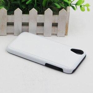 Image 4 - MANNIYA Blank sublimacyjny twardy podwójny 2 w 1 TPU + etui na telefon PC dla iphone XR z wkładkami aluminiowymi darmowa dostawa! 50 sztuk/partia