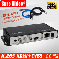 4K H.265 & H.264 HEVC video decoder AV HDMI audio output for Advertisement Display media IP Camera Live Sports video streaming