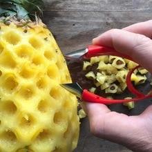 Ломтерезка для ананаса Нержавеющая сталь инструмент для очистки ананасов резак ломтерезка нож для удаления сердцевины корки ключевой инструмент ананас плод глаза приспособление для овощей