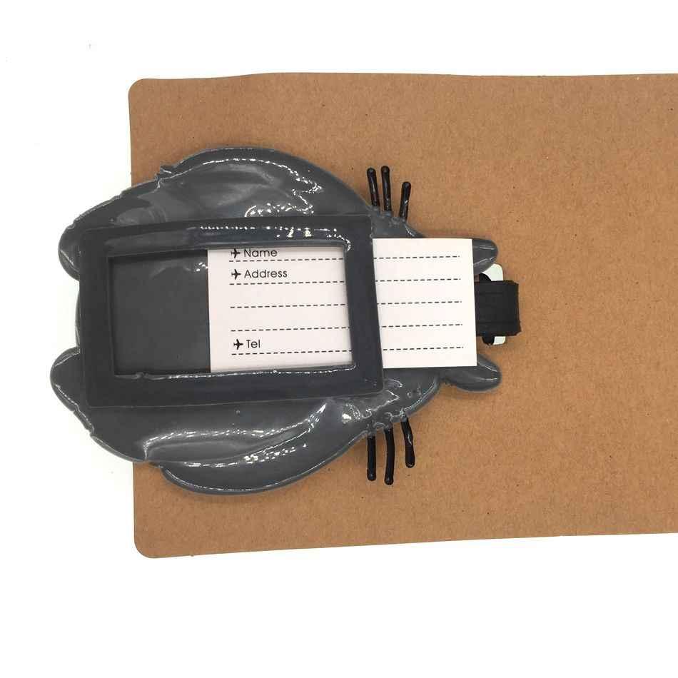 Totoro dos desenhos animados bagagem tag acessórios de viagem sílica gel mala id endereço titular bagagem embarque tag portátil