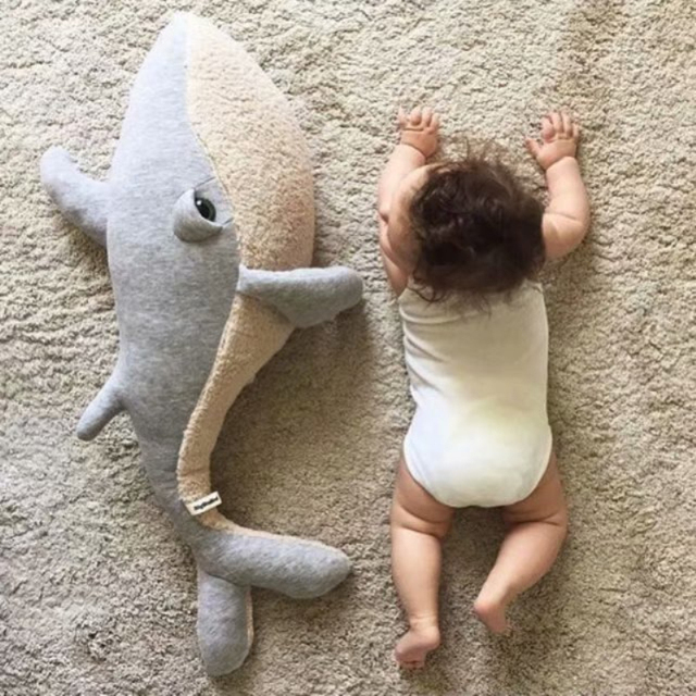 Huge Cuddly Baby Whale Plush Toys Cotton Whale Doll Dolphin Stuffed