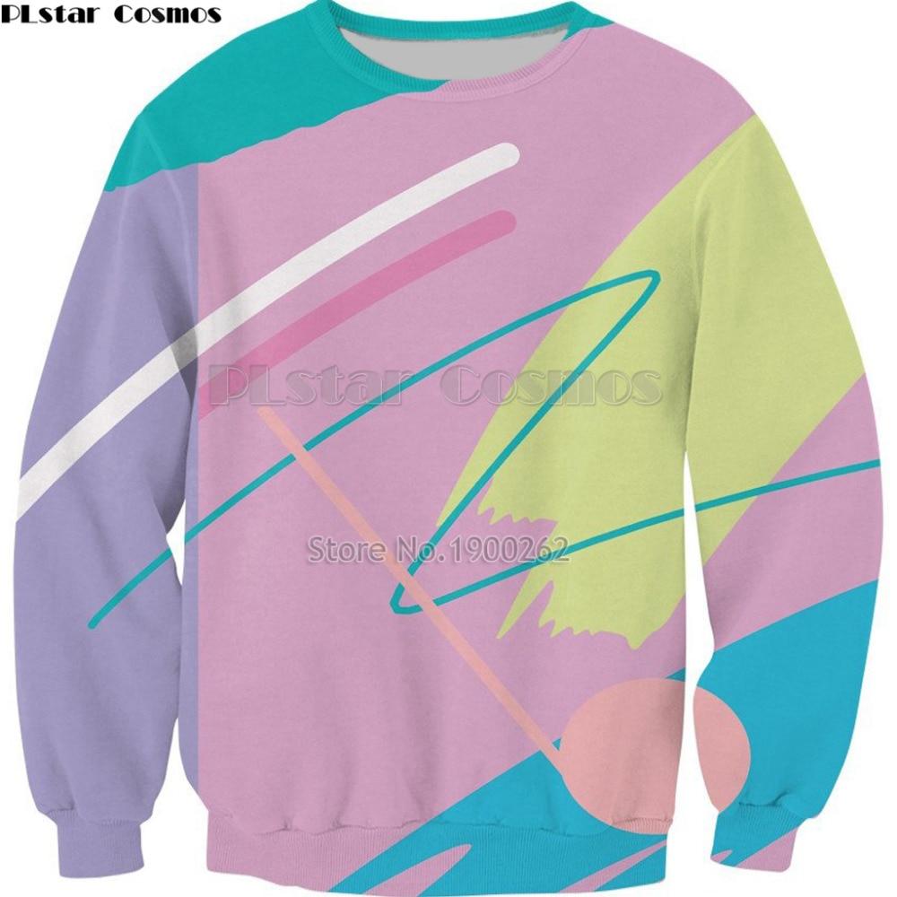 PLstar Cosmos sweatshirt new style fashion harajuku Fresh Paint Crewneck  cartoon hoodies long sleeve crewneck tops