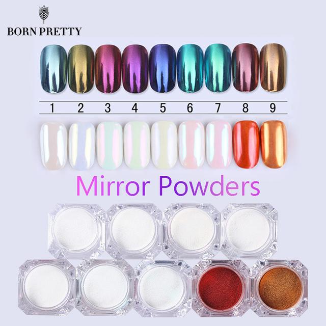 BORN PRETTY Mirror Nail Glitter Pigment Powder
