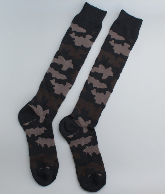 58190c88e03 New women men Knee High Socks Girls army green long sock camouflage ...