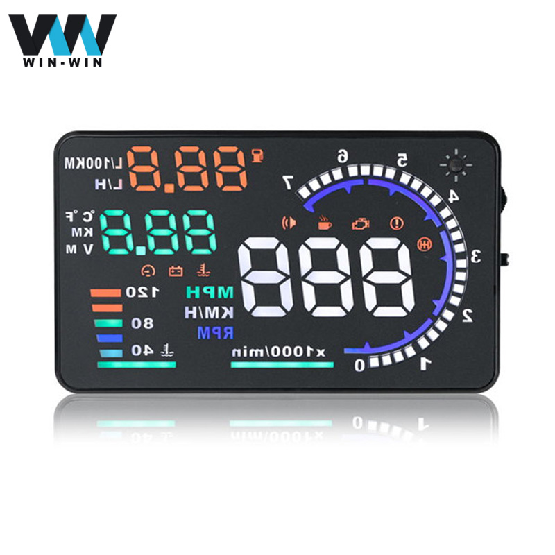 A8 HUD Head Up Display Support cars with OBD2 HUD A8 Easy Plug and Play Overspeed