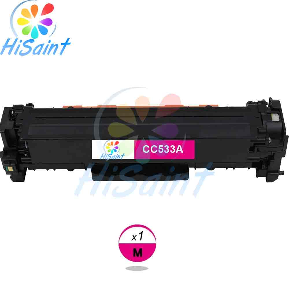 ФОТО The new listing [Hisaint] Compatible TonerCartridge Replacement For HP CC533A 304A (Magenta1-Pack) Special counter Free shipping