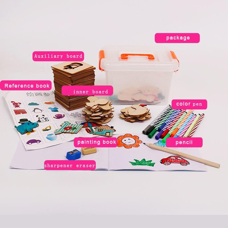 pintura, aprendizaje, cuaderno, madera, juguetes, dibujo, juguetes, - Educación y entrenamiento - foto 2
