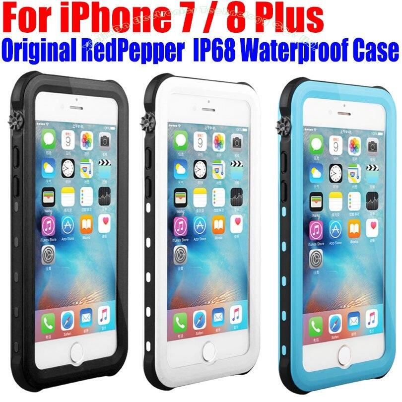 Pro pouzdro IPhone 7 8 Plus Originální RedPepper Dot Series IP68 Vodotěsné potápěčské podvodní PC + TPU Armor Cover pro iPhone 8 IP712