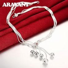Colliers de perles en argent 925, chaînes longues de perles pour femmes, colliers de fête de mariage, cadeaux de bijoux