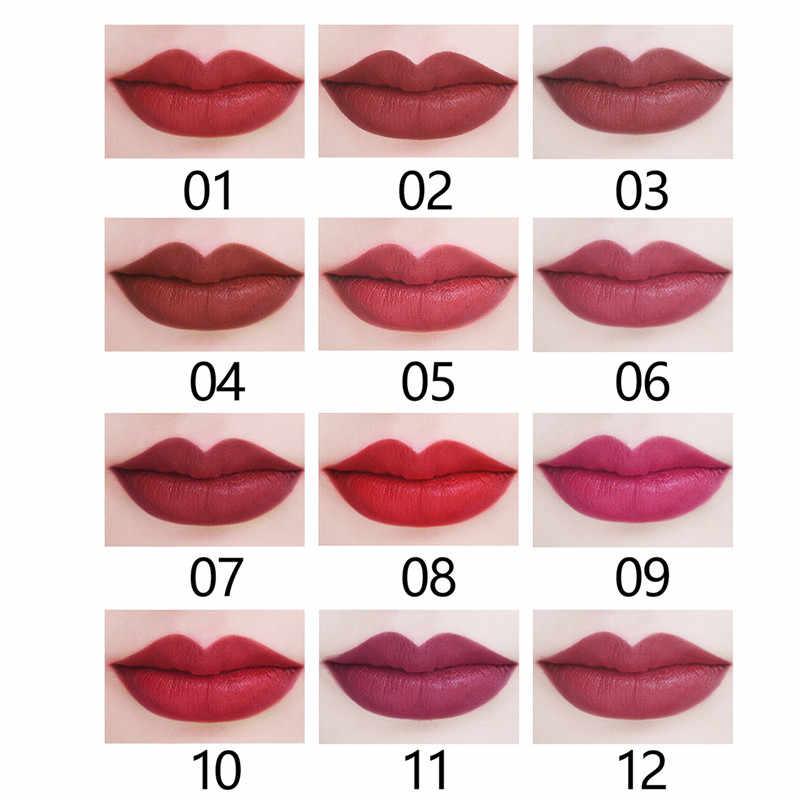 Couleur nue hydratante durable hydratant mat Tube carré rouge à lèvres, hydratant mat longue durée facile à appliquer lisse
